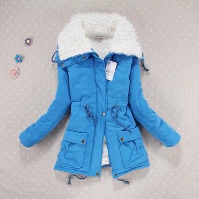 Women Slim Plus Size Outwear Medium-Long Wadded Jacket Thick Hooded Cotton Wadded Warm Cotton Parkas