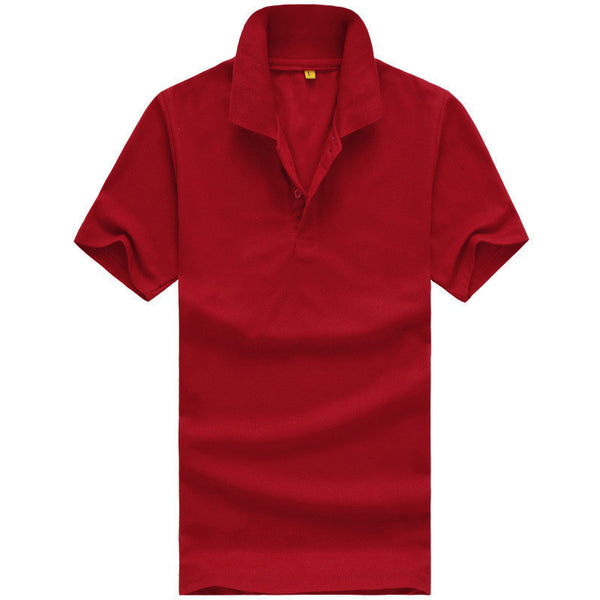 Online discount shop Australia - Men solid polo shirt Clothing short Tees for style casual tops YL03