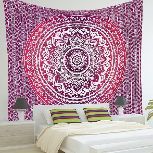 Online discount shop Australia - Indian Mandala Tapestry Wall Hanging Printed Beach Throw Towel Mat Table Cloth Bedding Outlet Home Decor 210x150cm