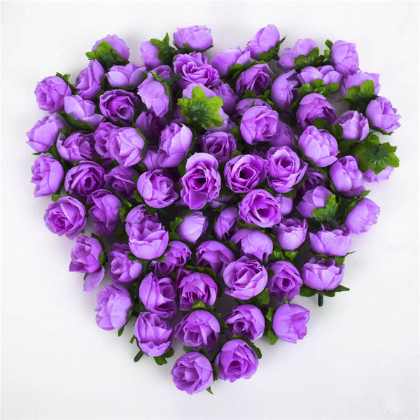 100pcsa set rose artificial silk flower heads wedding decoration domokun mightylinksfo