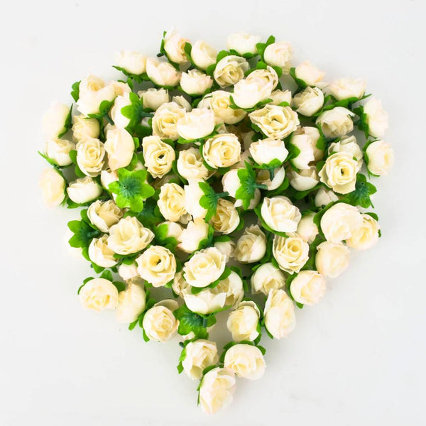 100pcsa set rose artificial silk flower heads wedding decoration domokun mightylinksfo Gallery