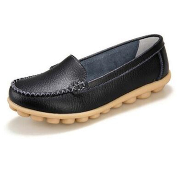 Online discount shop Australia - Genuine leather female models flats Peas shoes soft bottom