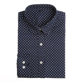Plus Size Polka Dot Cotton Women Blouses Shirts Long Sleeve Women Shirts Turn Down Collar Cotton Casual Shirt Women Tops