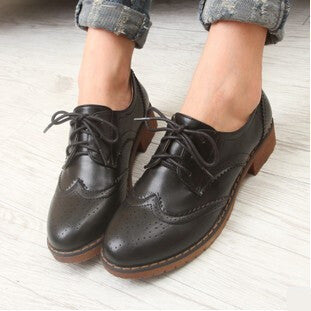 Online discount shop Australia - Brogue Oxford Shoes Women Flats New Fashion Women Shoes