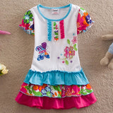 Online discount shop Australia - NEAT christmas cotton baby girl clothes Fashion embroidery butterfly lace dress tutu cartoon children dresses clothing L65518#