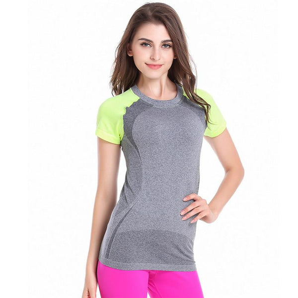 WJ Ladies Women Short Sleeve  Quick Dry  Fitness Tees