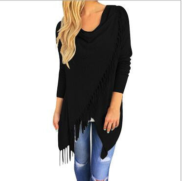 New Fashion Autumn Dress Casual Women Long Sleeve Slim Tassel Slash Winter Cotton Clothing Mavodovama