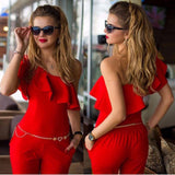 Online discount shop Australia - New Arrival Sexy Lady Women Evening Party One-Shoulder Jumpsuit Romper Long Pants