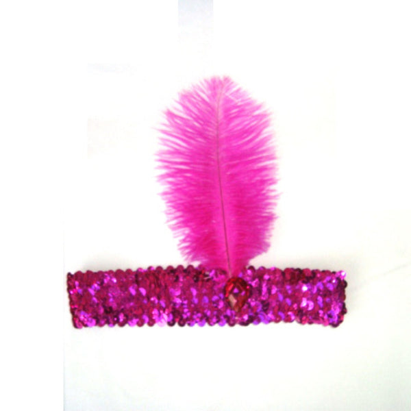Online discount shop Australia - Feather Headband 1920's Flapper Sequin Headpiece Costume Head Band Party Favor