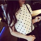 women polka dot blouses clothing social blouse shirts