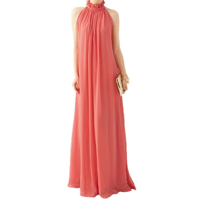 6268f00cd5d Online discount shop Australia - Bohemian Style Summer Women s Chiffon Long Maxi  Dresses Halter Neck Sleeveless