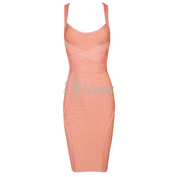 Online discount shop Australia - Fashion Sexy Two-Way Wear Double Straps Celebrity Style Evening Party Bandage Dress