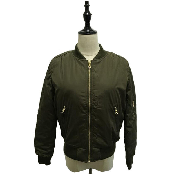 Online discount shop Australia - Flight army green bomber jacket women jacket and women's coat clothes bomber ladies