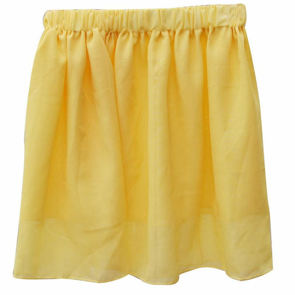 Summer Chiffon Women Skirt Tulle Girls Above Knee Short Nude Mini Casual Skirts NO BELT