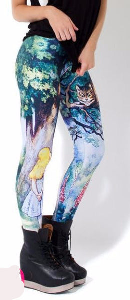 New women skinny leggings 8 colors Sexy 3D Graphic Colourful Printed Women Legging sporting legging MH061
