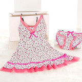 Sexy Womens Pink Nightie Women Nightwear Lingerie Nightdress Sleepwear Dress