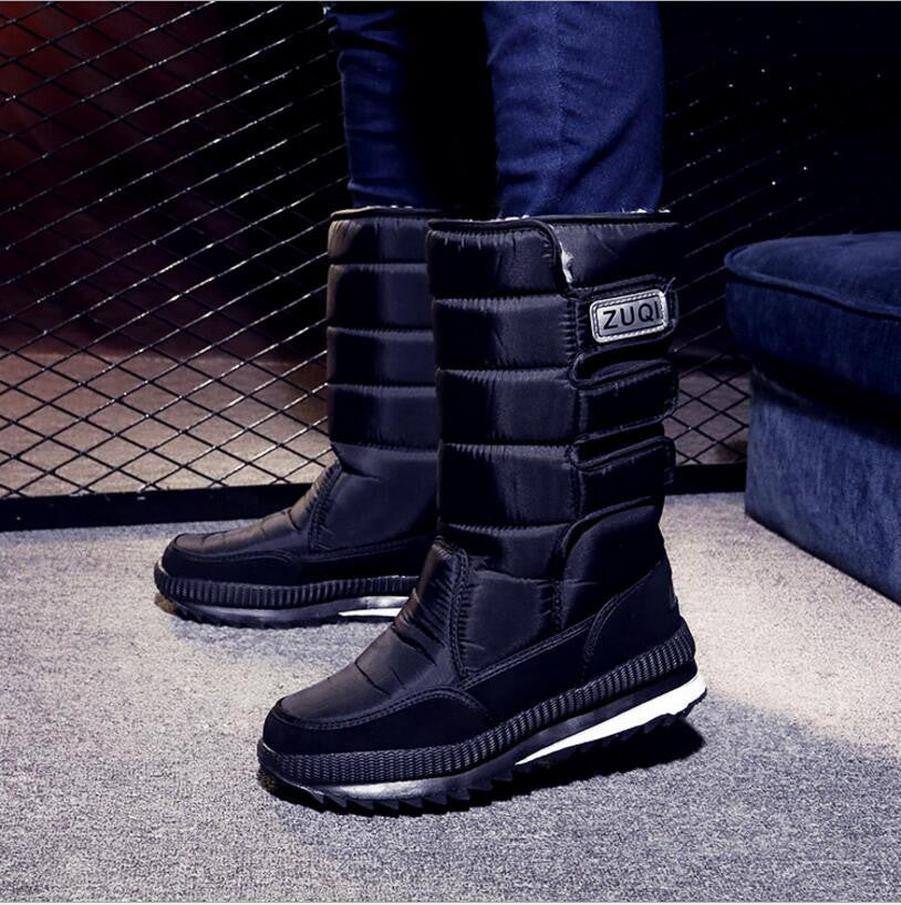 e60b13e66e8 Online discount shop Australia - Boots men warm shoes platform snow boots  men boots thick waterproof