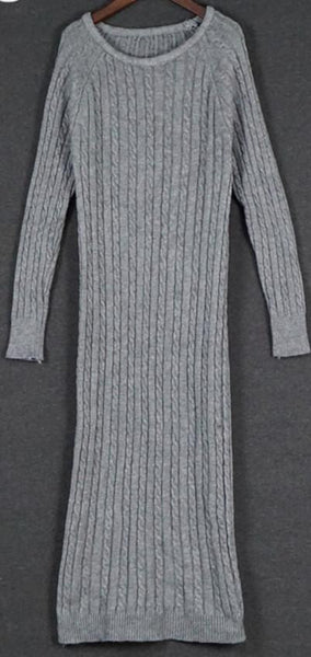 Women long sweater dress autumn winter sexy slim Bodycon Dresses Elastic Skinny Brief Knitted Dress vestidos