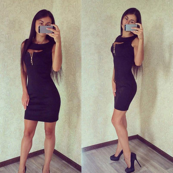 Women Slim Pencil Dress Fashion Lady Sleeveless Package Hip Mini Dresses Women's Casual Summer Party Dress Vestidos