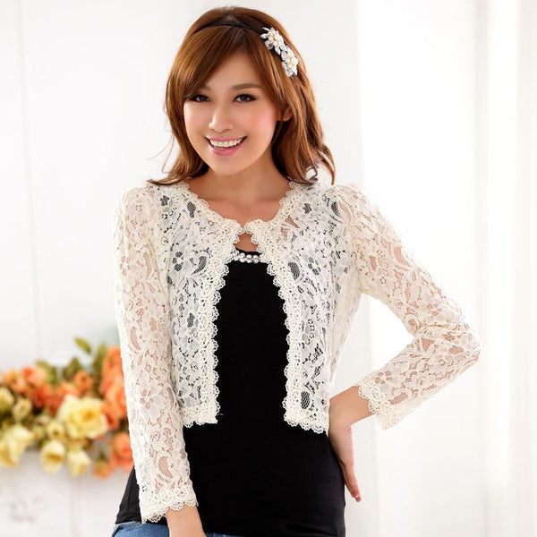 women lace shawl Wild wedding shawl Fashion Long women cardigan Elegant women lace jackets