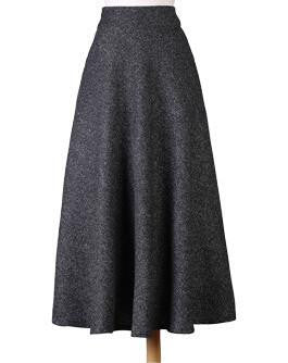Skirt Fashion Women's Long Woolen Skirts Big Buttom A-line Wool Skirts S - XXL