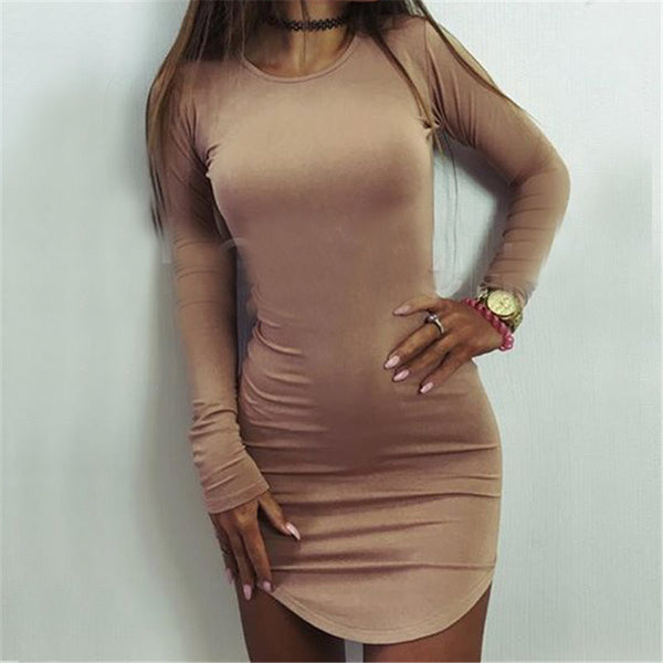 Online discount shop Australia - Julissa Mo Women Summer Autumn Sexy T Shirt Dress Long Sleeve Casual Mini Bodycon Bandage Party Dresses T-shirt Vestidos