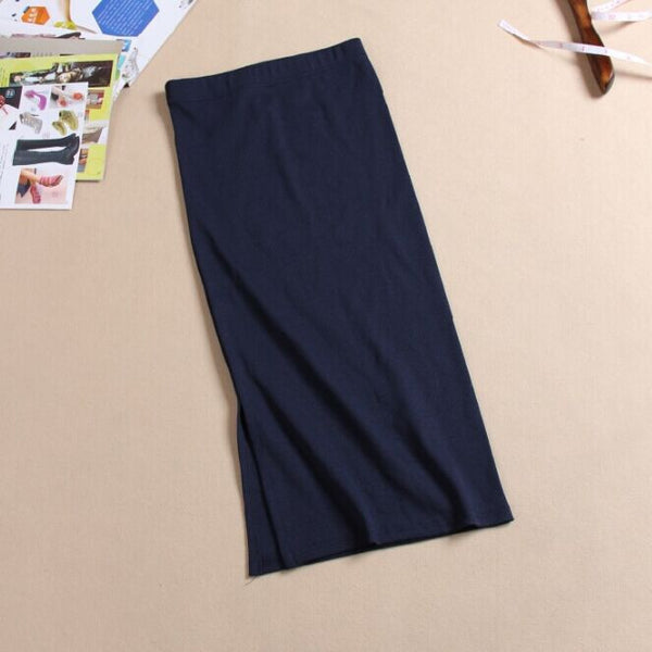 Online discount shop Australia - Autumn Winter Women Skirt Wool Rib Knit Long Skirt Package Hip Split Skirts