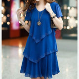 Sexy Dress Women Party Dresses 5xl Plus Size Women Clothing Vestidos Black Blue Summer Dress Chiffon