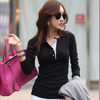 Women Cotton Sweaters Casual Slim Tops Blouse Sweater Outfit Jumper Pullover