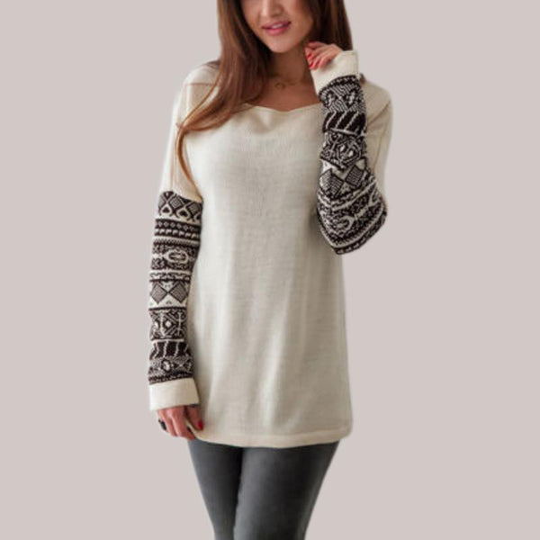 Women O Neck Long Sleeve Printed Cotton Tops Tee Shirts Casual Loose Tops T-shirt Plus Size S-5XL
