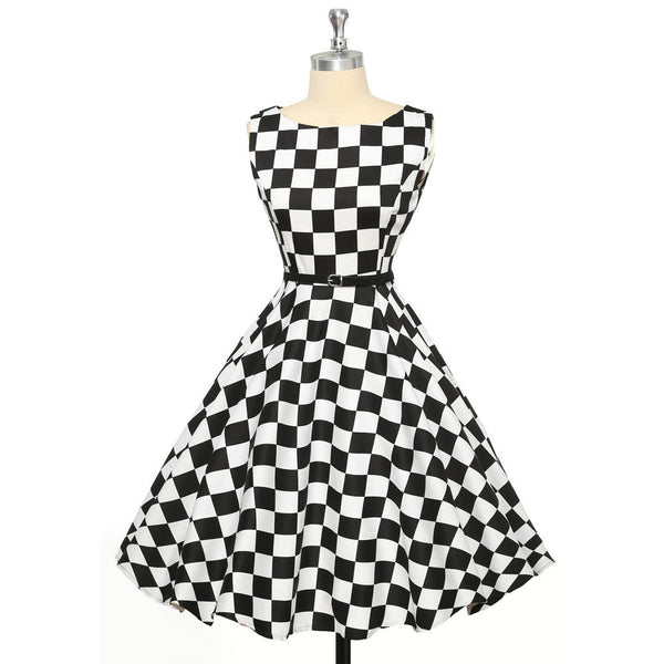 Summer Dresses Women Pinup Retro Robe Rockabilly 50s Vintage Dress Plus Size  XS-3XL Sexy 0b9b991e4c49