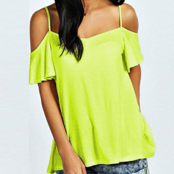 Online discount shop Australia - Fashion T Shirt  Sexy Women Slash Neck Short Sleeve Off Shoulder Casual Solid Stretch Top Tees Plus Size Tops