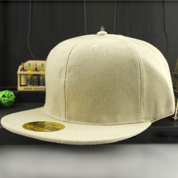 Online discount shop Australia - Adjustable Men Women Baseball Cap Solid Hip-Hop Snapback Flat Hat Visor