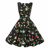 Online discount shop Australia - Jurken Women Dress Black Red Purple Summer Audrey Hepburn 50s 60s Vintage Dresses Vestidos Plus Size Rockabilly Party Dress