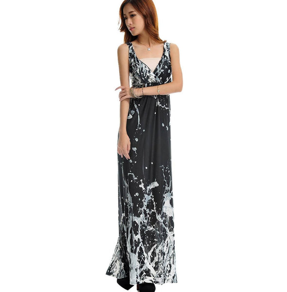 Women Summer Dress Printed Bohemian Beach Dress Plus Size 5XL Long Maxi Dress Robe Femme Vestidos