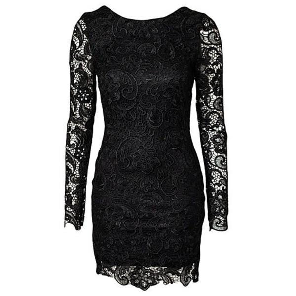 Women Bodycon Lace Long Sleeve Backless Evening Sexy Party Mini Dress