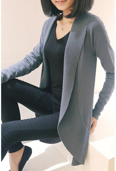 Women Cardigan  Fashion Women Sleeve Knitted Sweater Cardigans Outerwear Shawl Knitwear