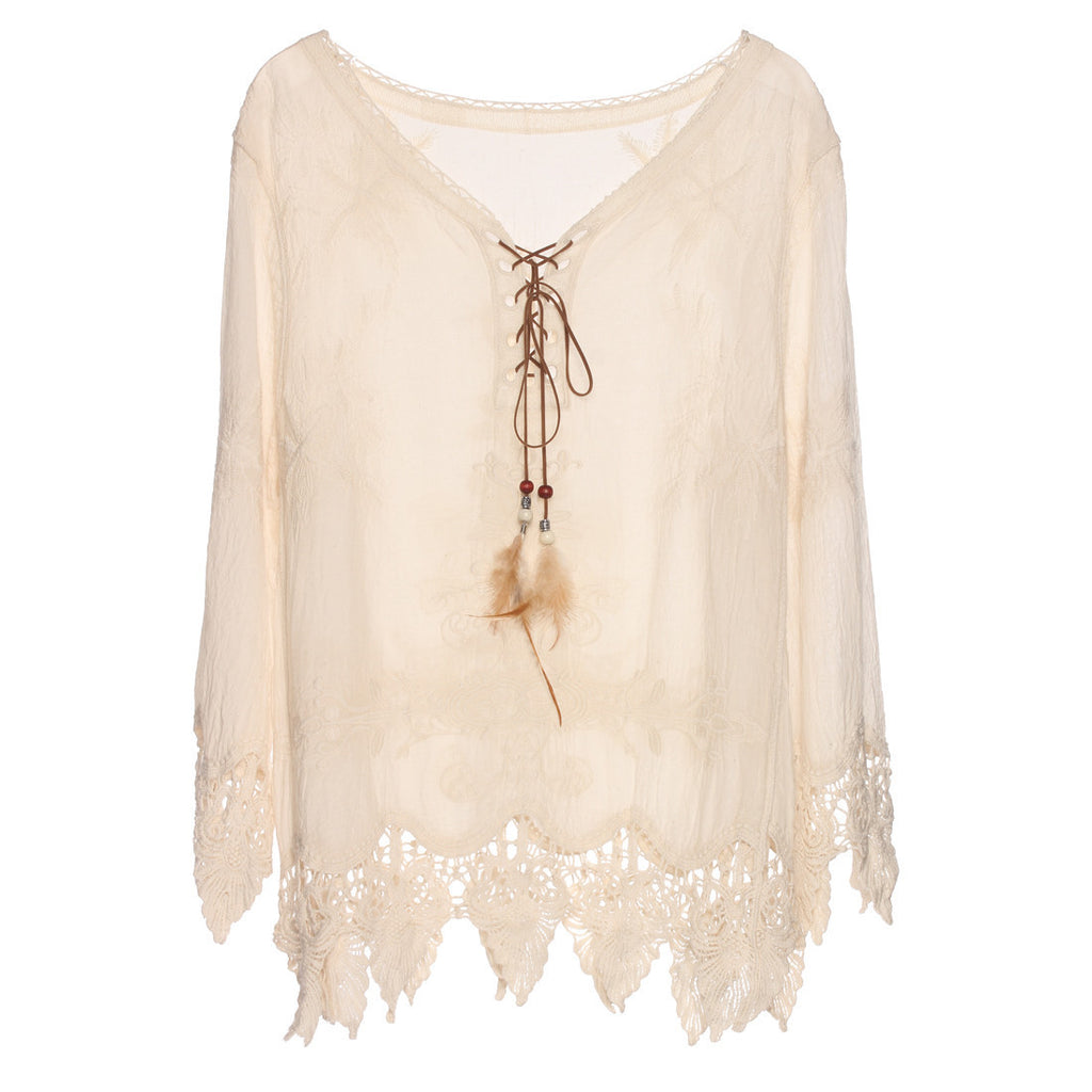 9da894ccf95 Online discount shop Australia - Gypsy Feather Duster Tops Hippie Boho  People Style With Retro Embroidery
