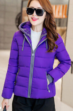 New Fashion Women Down jacket Big yards Thickening Super Warm Coats Hooded Jacket Splicing Slim Women Coat G1558