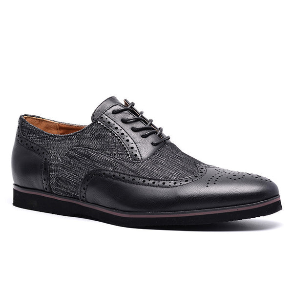 Shoes 2019 Style Men Oxfords Breathable Mesh Leather Shoes Men Luxury Brand Patchwork Business Dress Shoes Footwear Big Size 5.5~13.5 Finely Processed