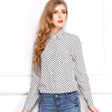 White Black Long Sleeve Women's Blouses Shirts Kiss Red Lip Print Casual Tops Loose Plus Size Lady Button Leopard
