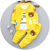 Online discount shop Australia - Brand new baby boys clothing set fashion style cotton coat with pants baby clothes A082