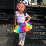 Style Girl Skirt Baby Kids Children Tutu Skirt Short Rainbow Skirt