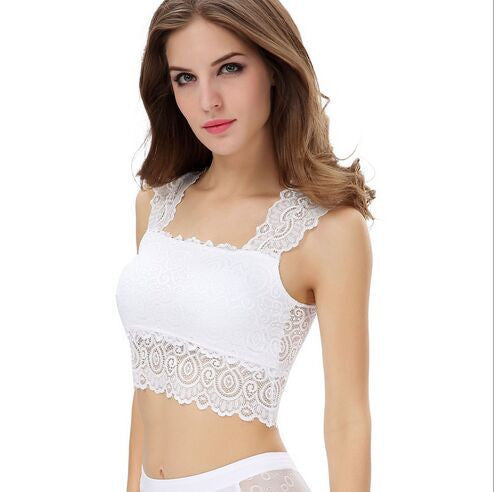 Lace Bralette Top Women's Tanks Black and White Bras Vest Fashion Dress for Women