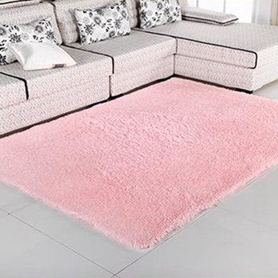 Online discount shop Australia - 1PCS 80x120cm Explosion Models Silky Carpet Mats Sofa Bedroom Living Room Anti-Slip Floor Carpets Bedroom Soft Mat Home Supplies