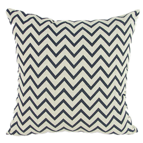 Online discount shop Australia - Case Black and White Pattern Pillowcase Cotton Linen Printed 18x18 Inches Geometry