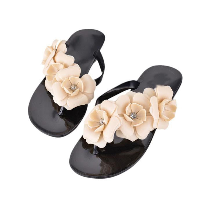 Splendid Bohemia Style Women's Sandals Fashion Flat Heel Flip Flops Beach Slippers Female Shoes