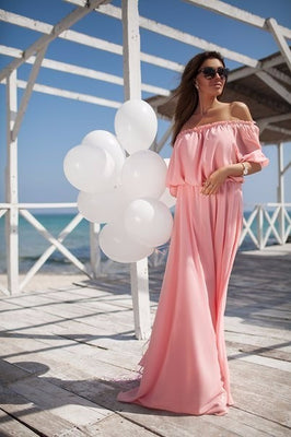 Online discount shop Australia - Long Maxi Chiffon Dress Network Popular Style Mother Dress Maxi Chiffon Floor Length Dress Party Sexy Long Gown Dress