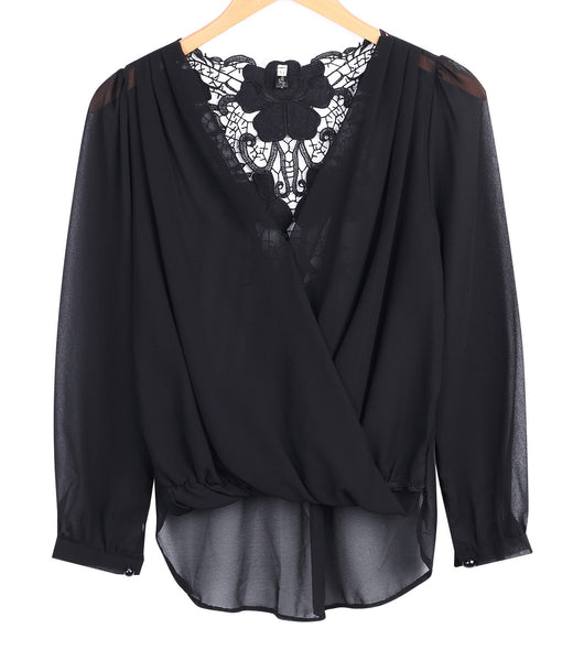 New Fashion Sexy Fashion Women V-neck Tops Tee Long Sleeve Shirt Casual Blouse Loose shirt