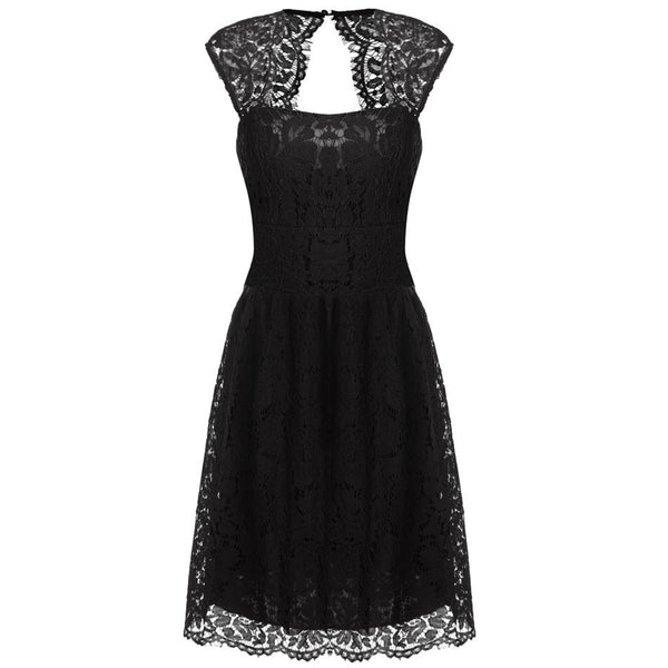 Online discount shop Australia - ACEVOG Women -2017 summer lace dress for women casual elegant high waist Black 5 color S/M/L/XL/XXL sexy vestidos